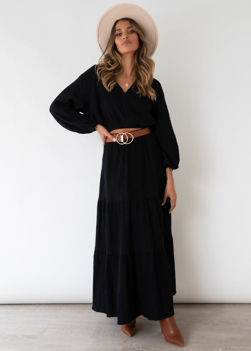 Quinnie Maxi Skirt - Black