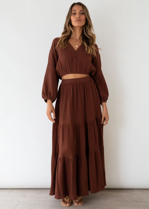 Quinnie Maxi Skirt - Chocolate