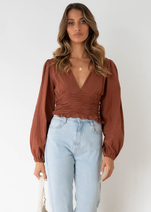 Hillcrest Blouse - Chocolate