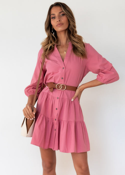 Lenorah Smock Dress - Rose