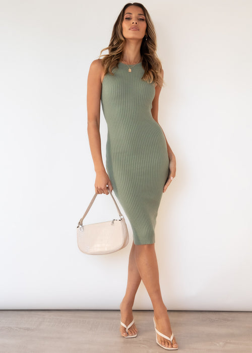 Jumelle Knit Dress - Khaki