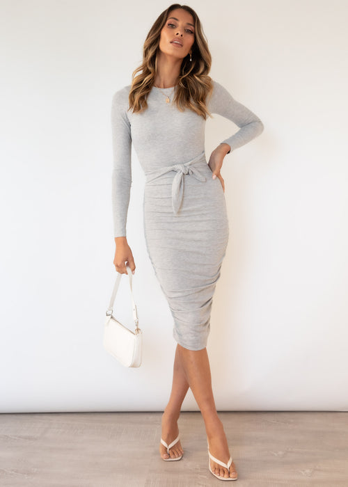 Fika Midi Dress - Grey
