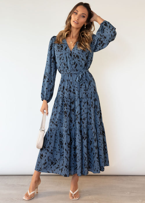 Abigale Maxi Dress - Steel Blue Brush