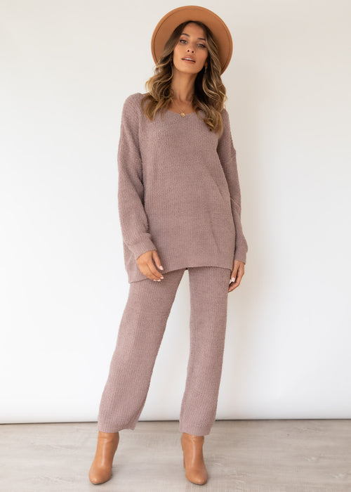 Quinnley Knit Pants - Mocha