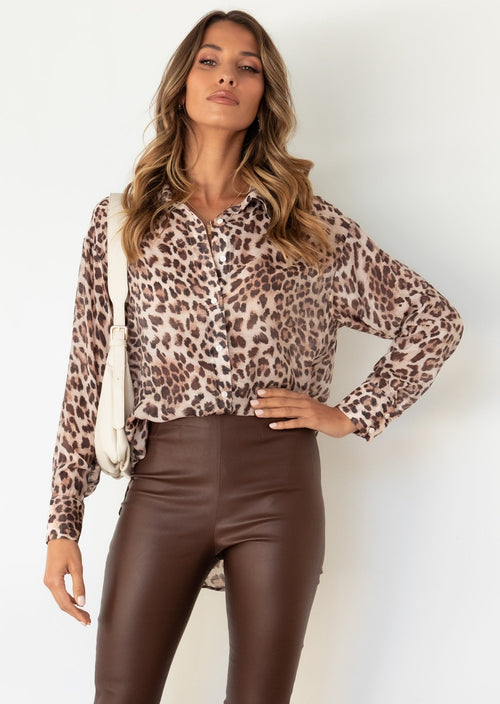 Moment In Time Shirt - Leopard