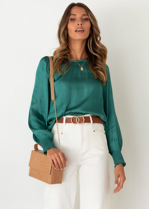 Anthea Blouse - Emerald