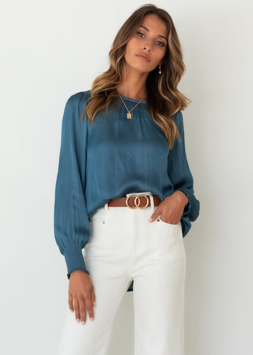 Anthea Blouse - Steel Blue