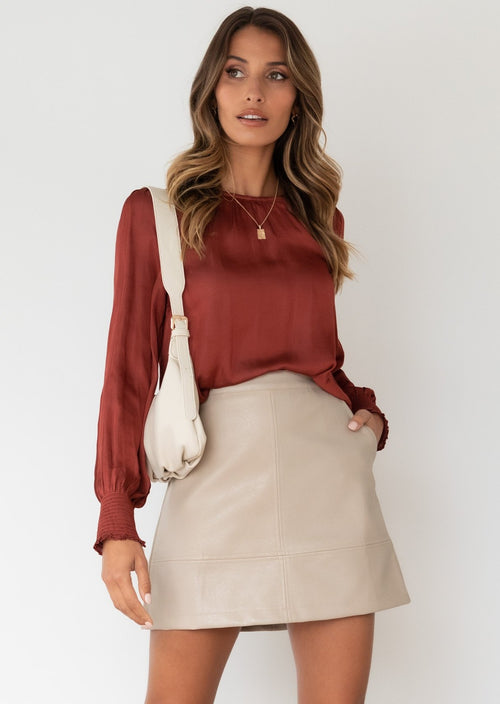 Anthea Blouse - Wine