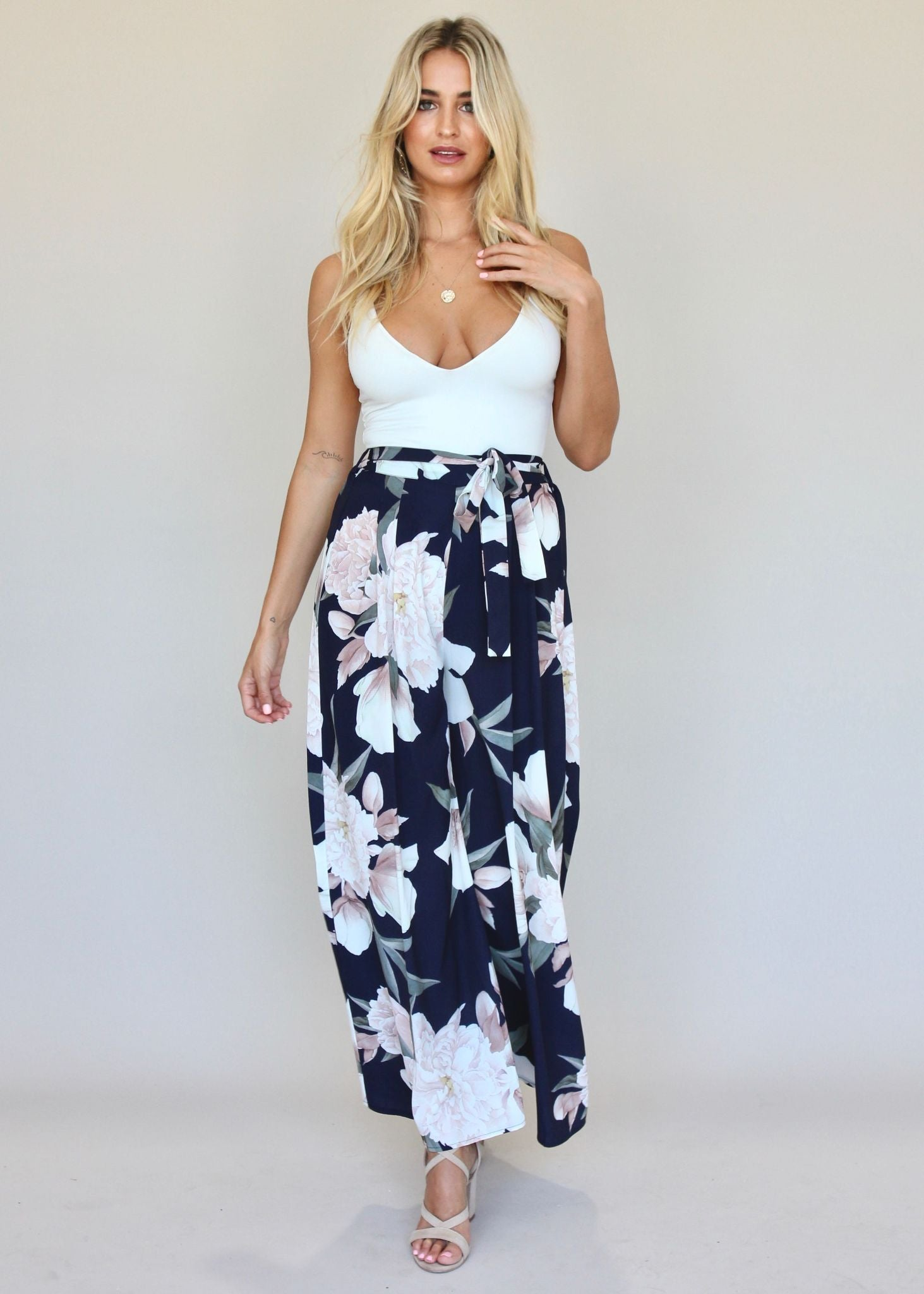 Little Love Pants - Navy Floral