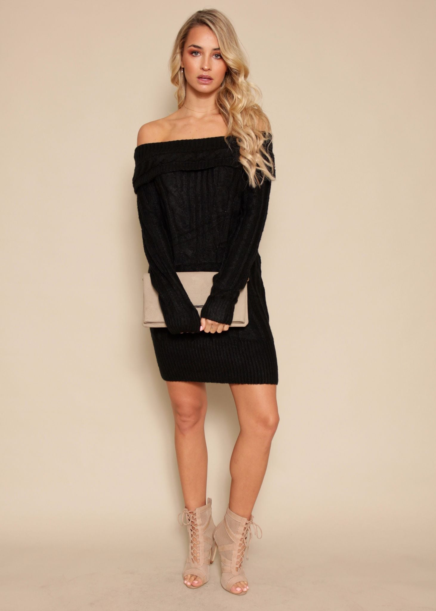 This Sweet Love Knit Dress - Black