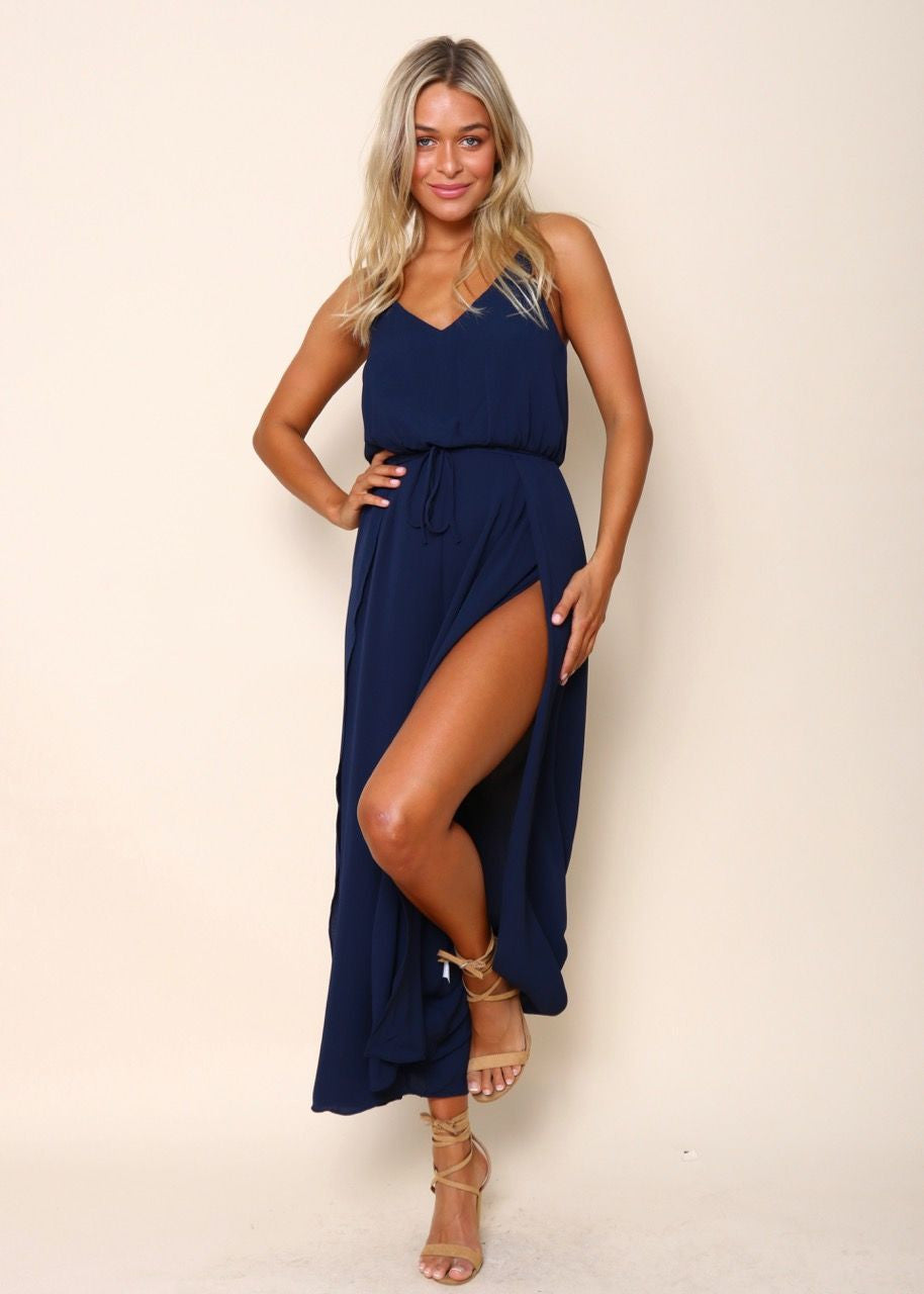 Cool Waters Playsuit - Navy