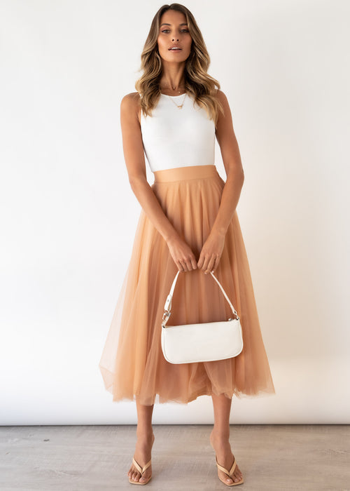 Typical Love Midi Skirt - Latte