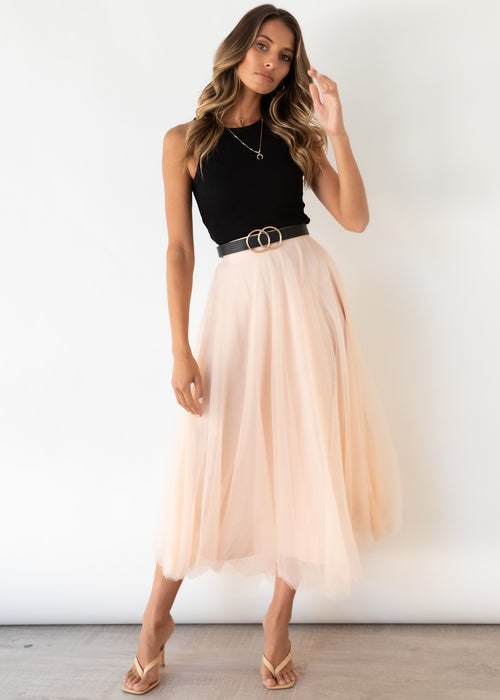 Typical Love Midi Skirt - Blush