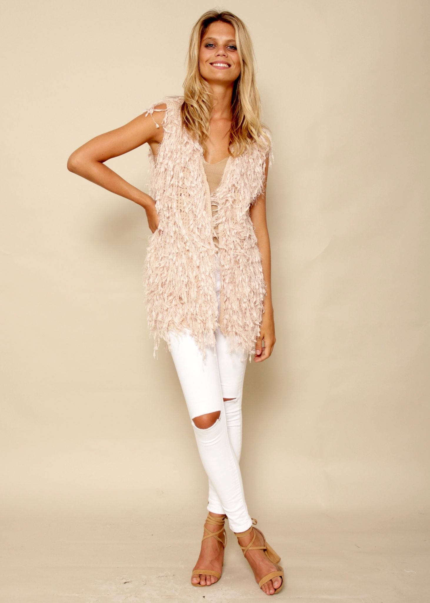 Wild Laurel Vest - Blush