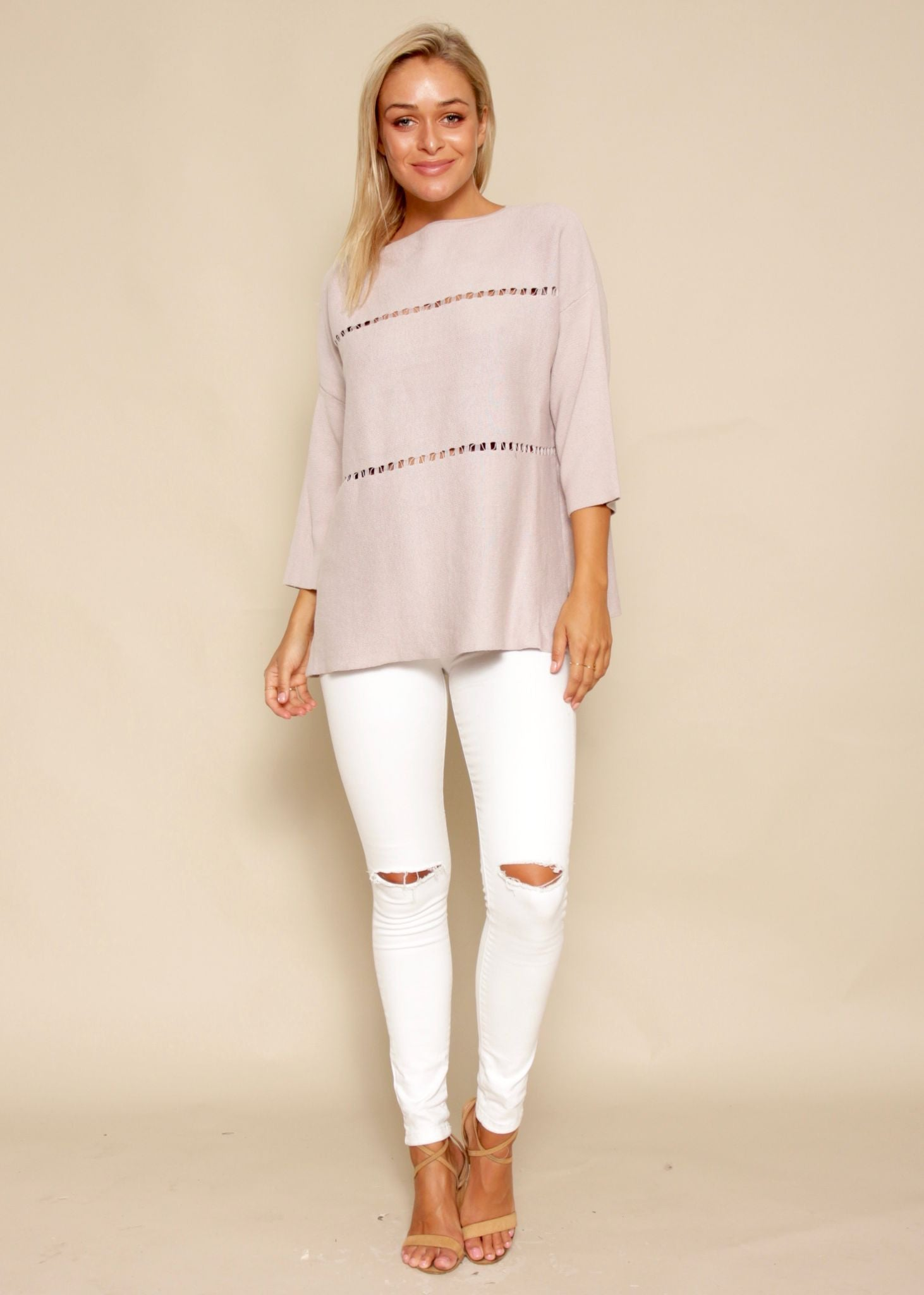 Storm Chaser Sweater - Blush
