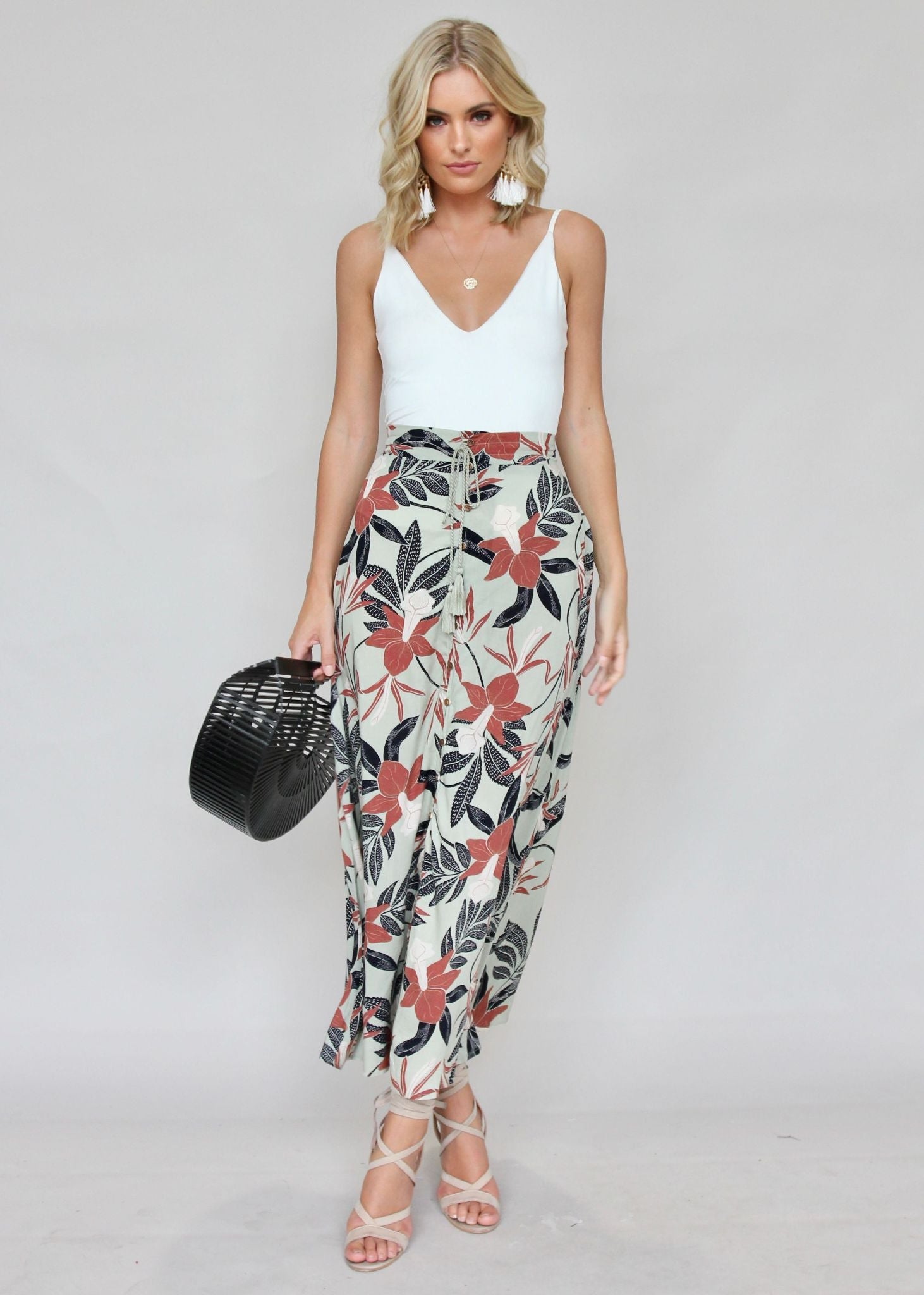 Slip It On Maxi Skirt - Coco Palms