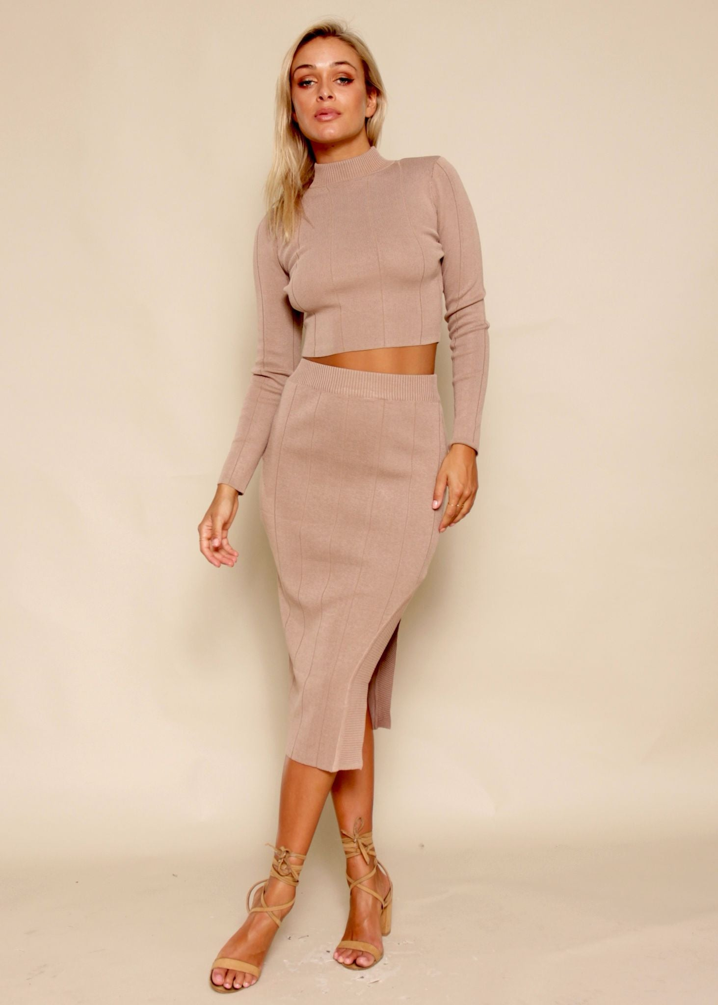 Sweet Disposition 2 Piece Set - Nude