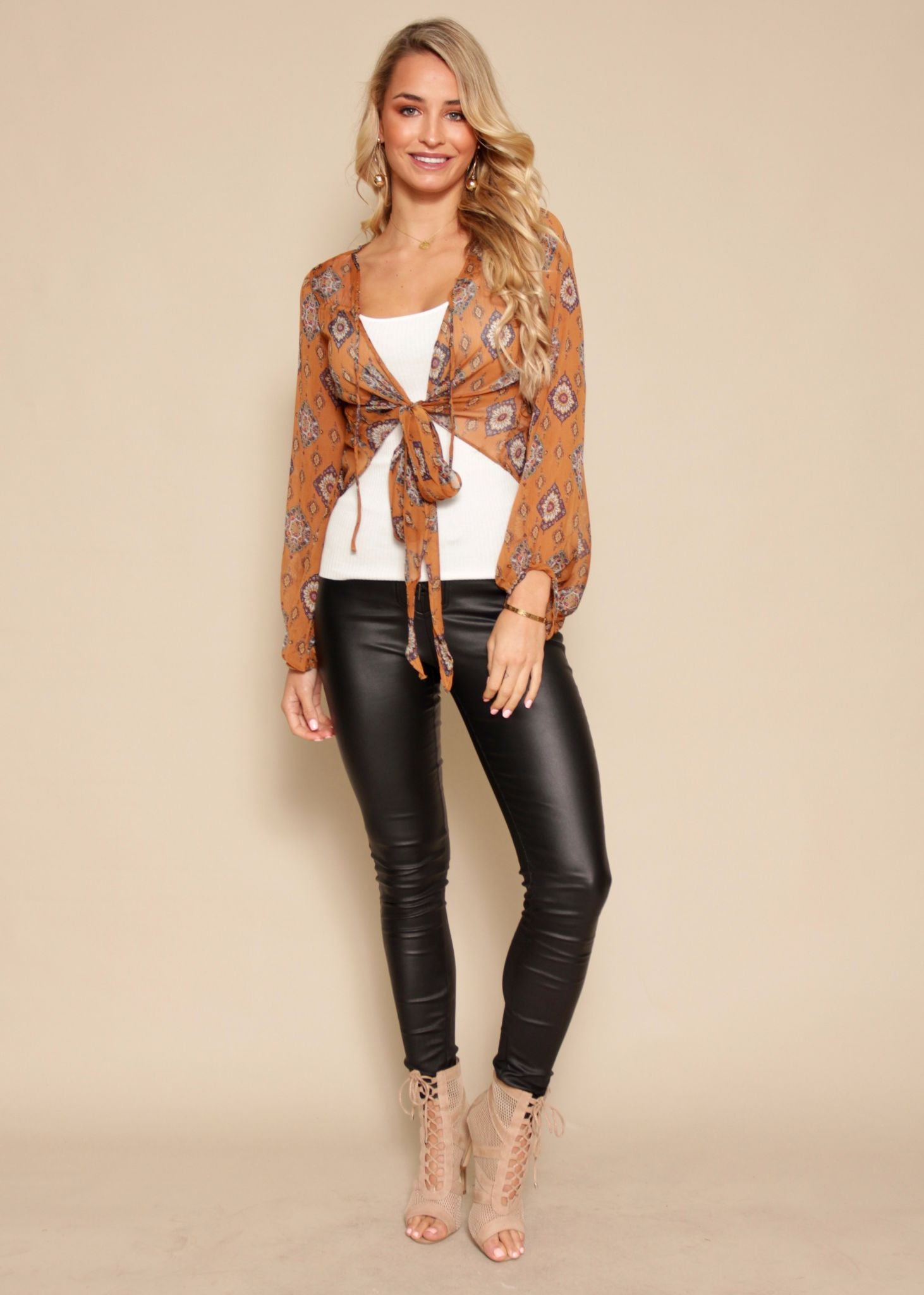 Stay Afloats Blouse - Amber