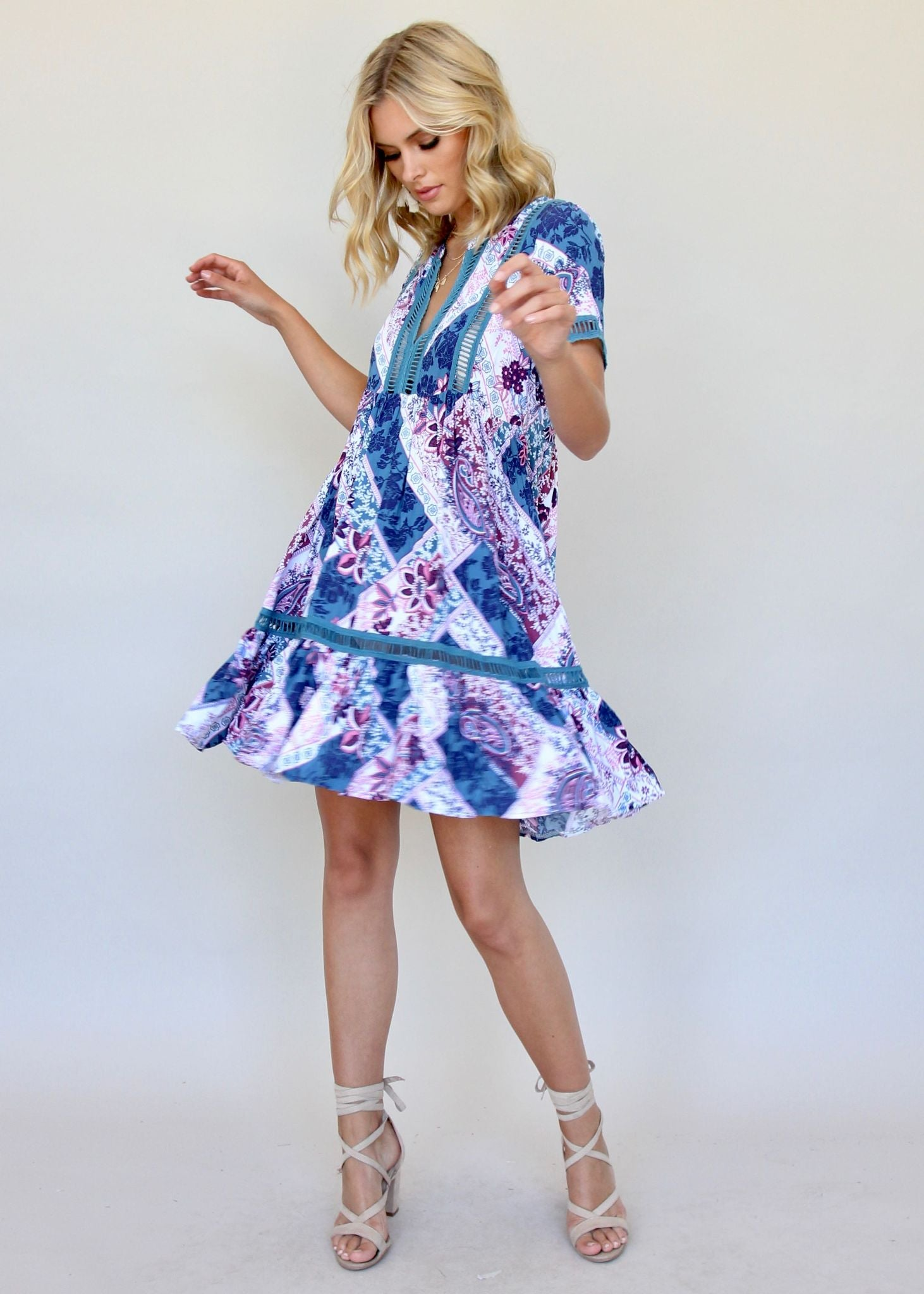 Summer Romantics Dress - Persian Blue