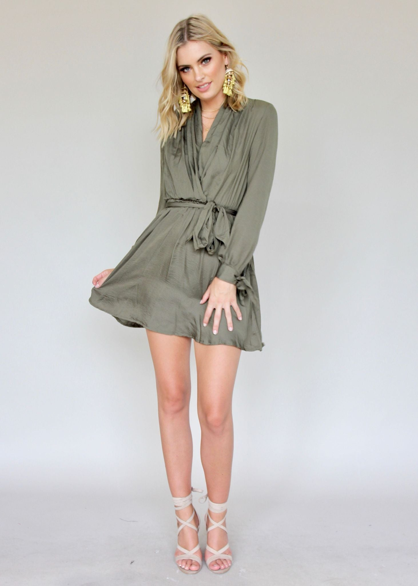 Summer Time Sun Dress - Khaki