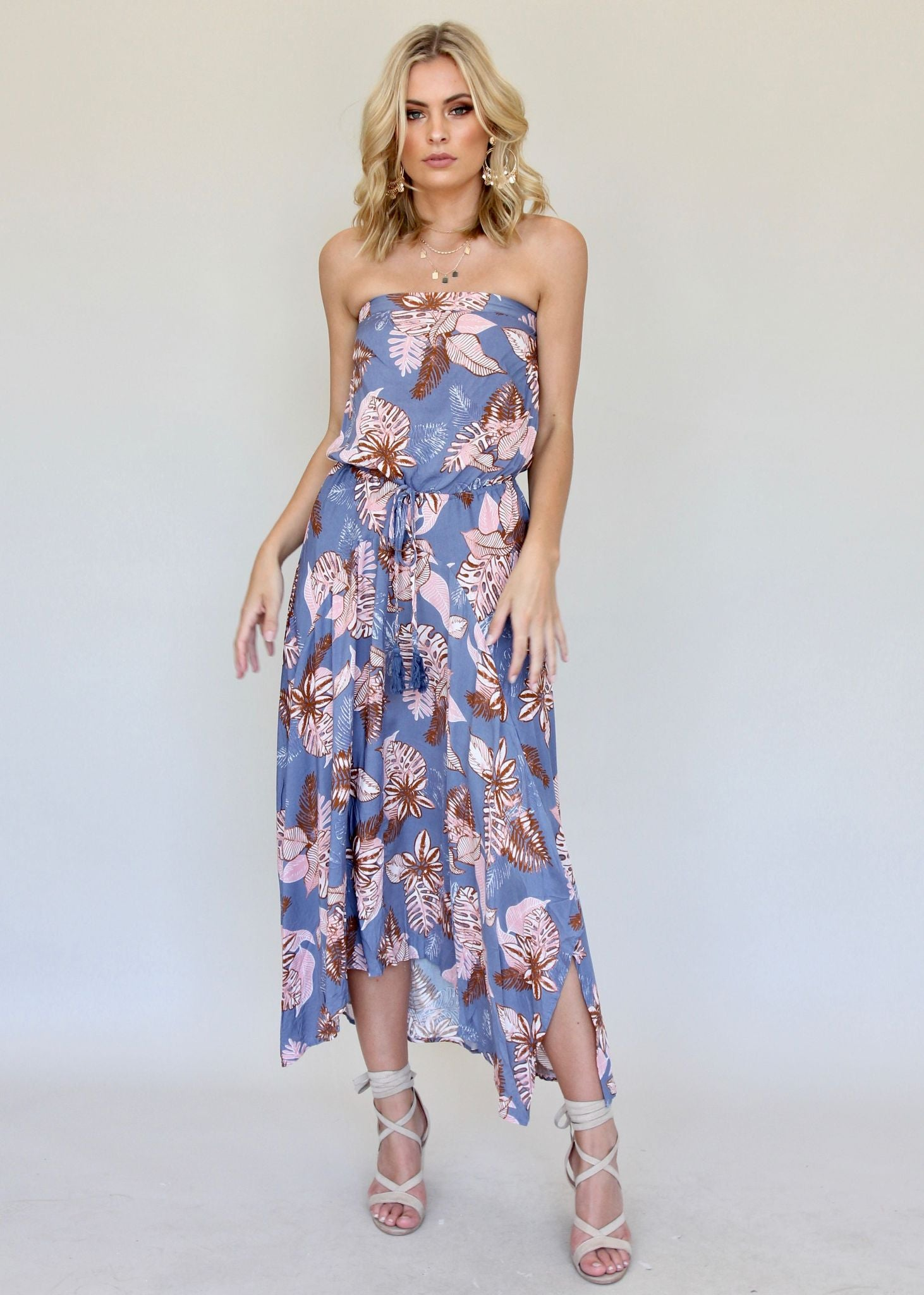 New Freedom Strapless Dress - Bermuda