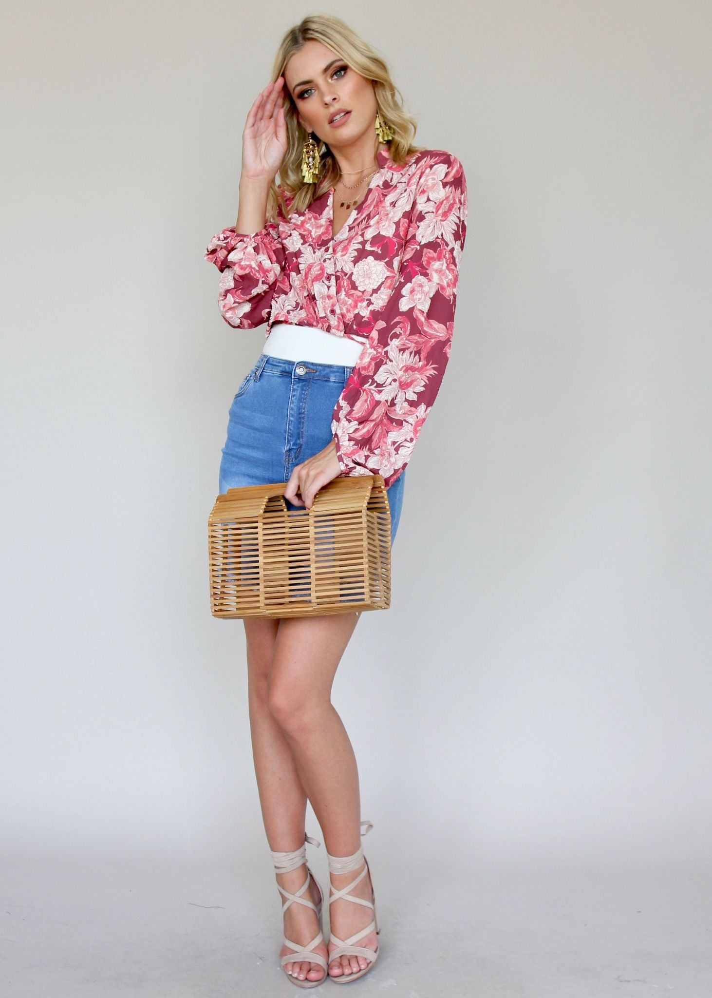 Sleevin' Around Blouse - Flora