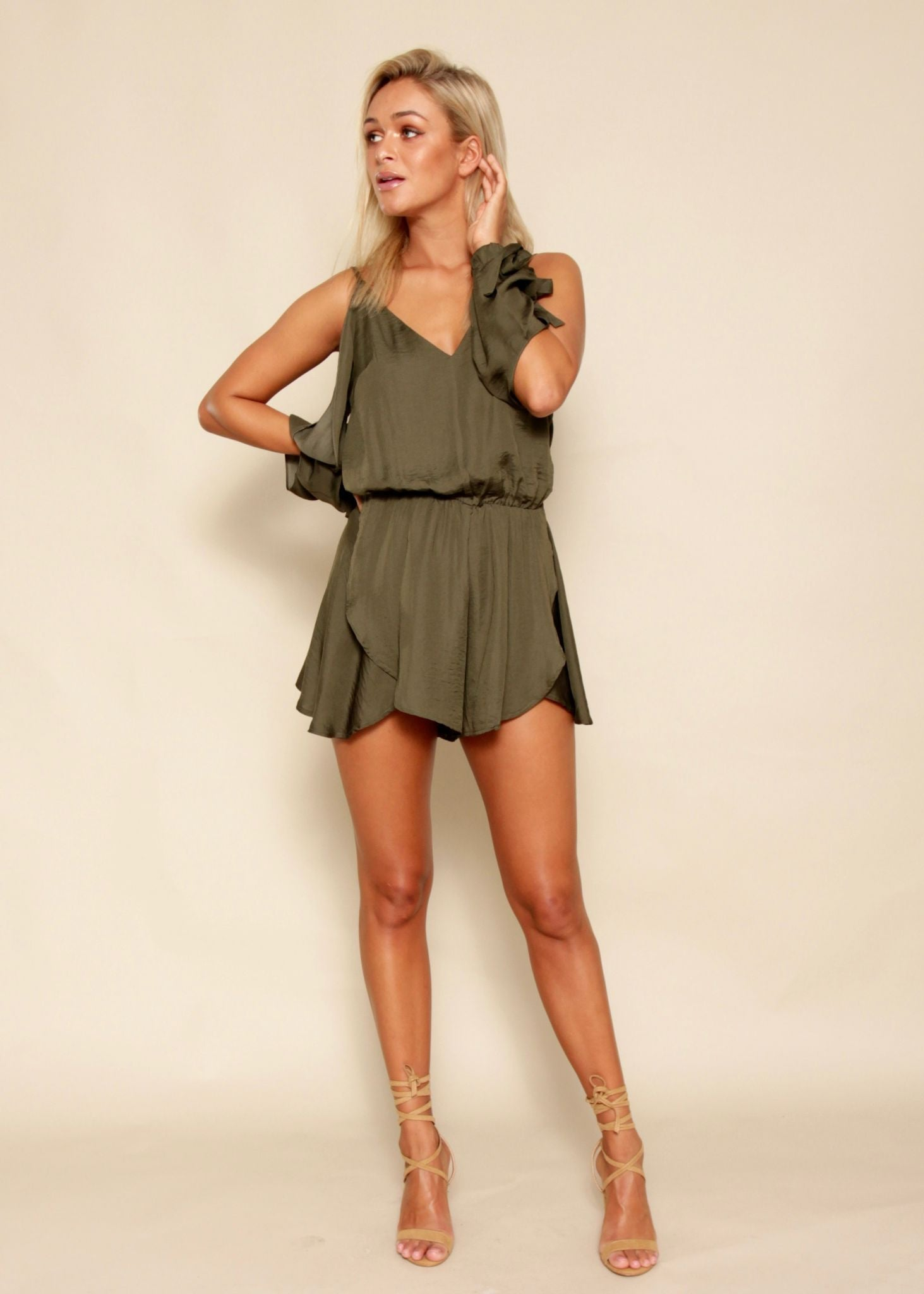 Paradise Valley Playsuit - Khaki