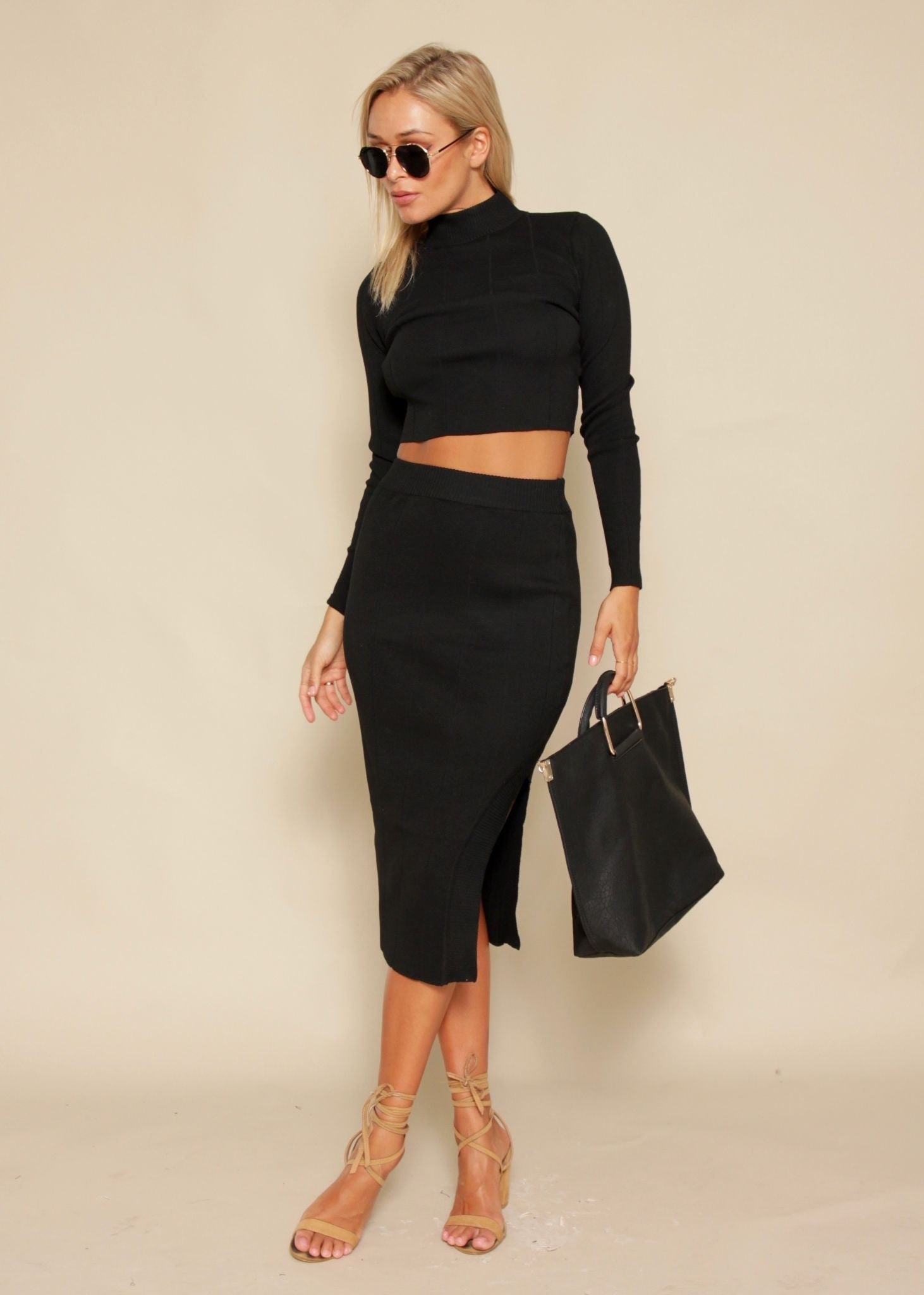 Sweet Disposition 2 Piece Set - Black