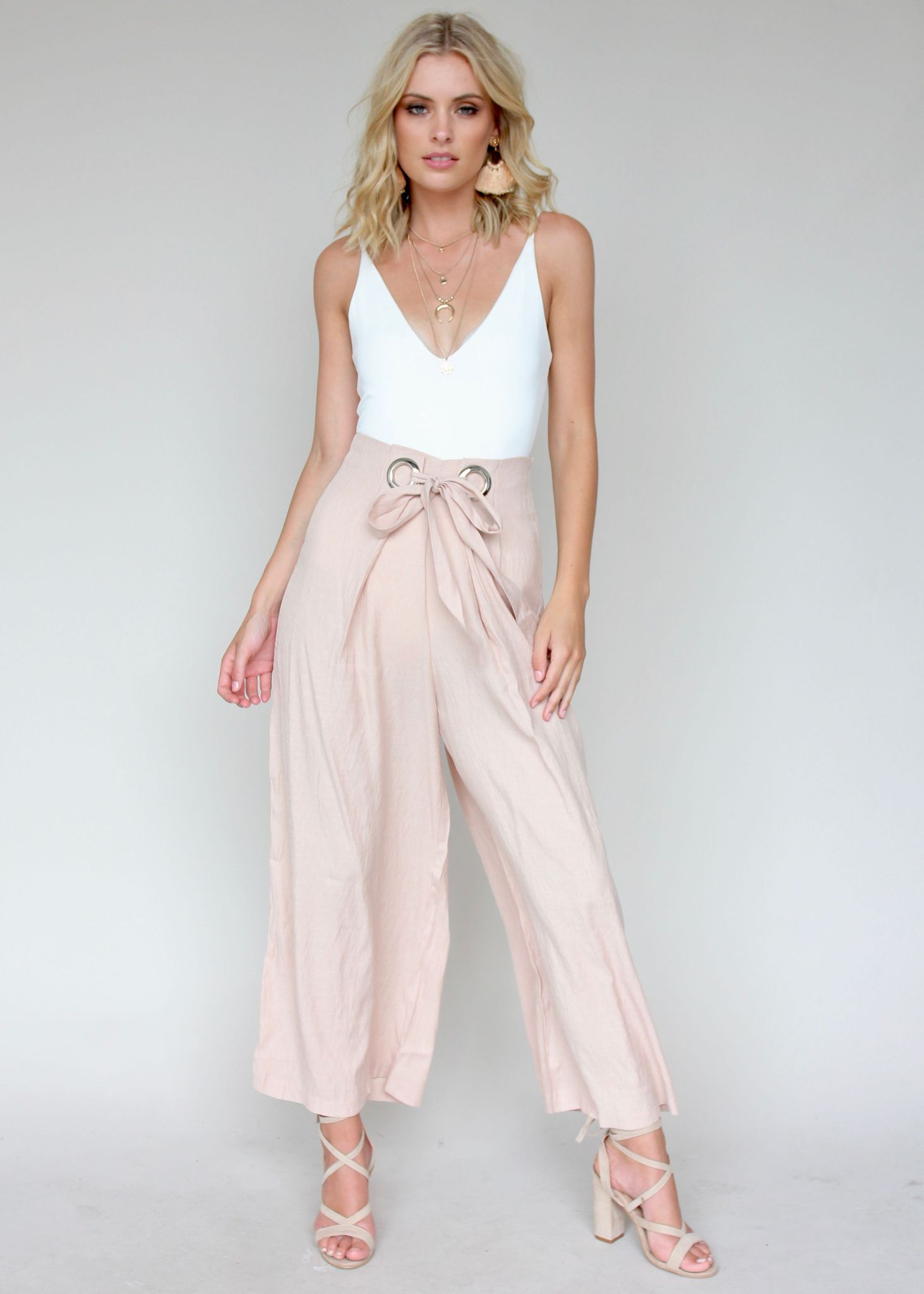 Locked Heart Pants - Mocha
