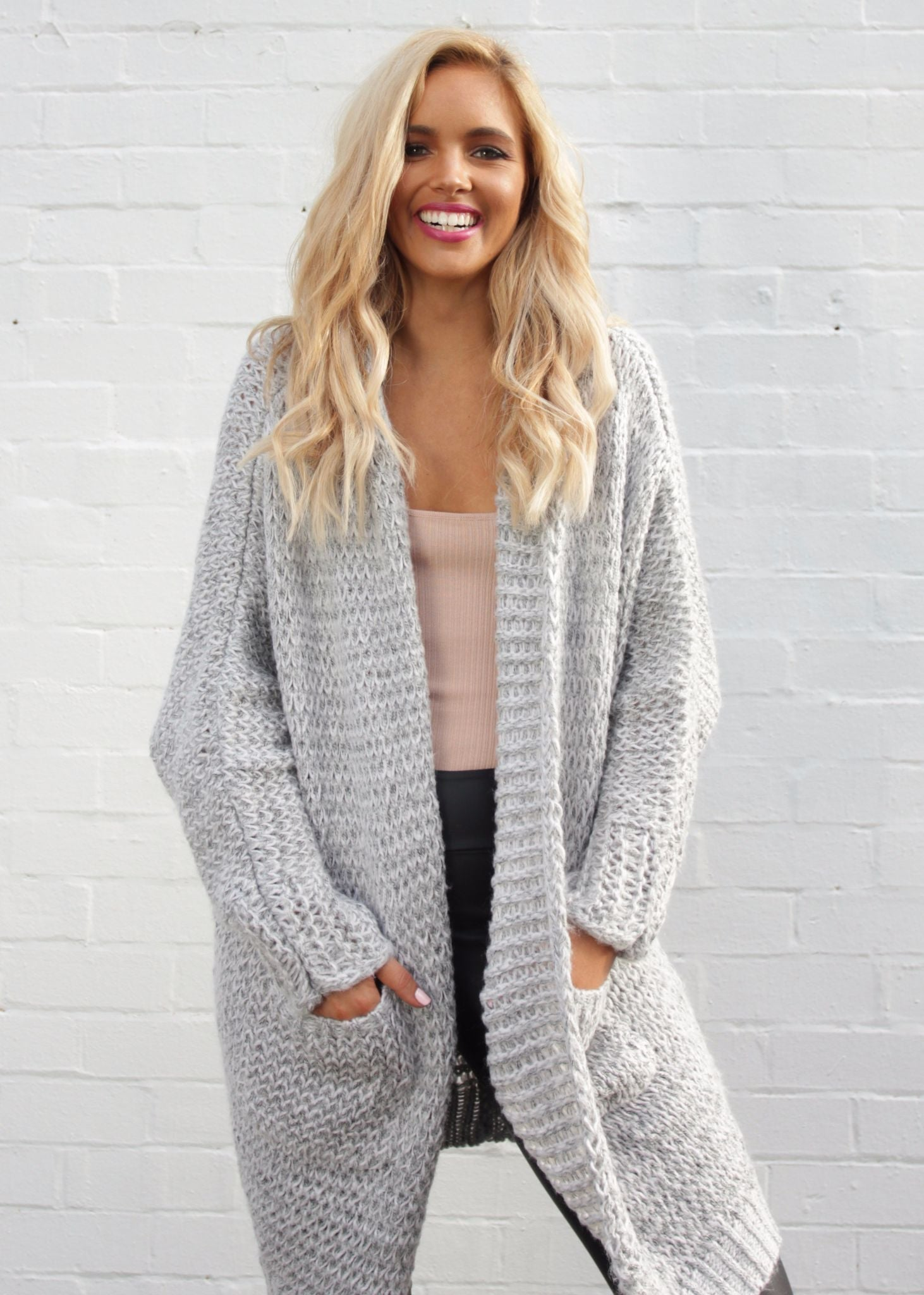 Shallow Waters Knit Cardigan - Grey