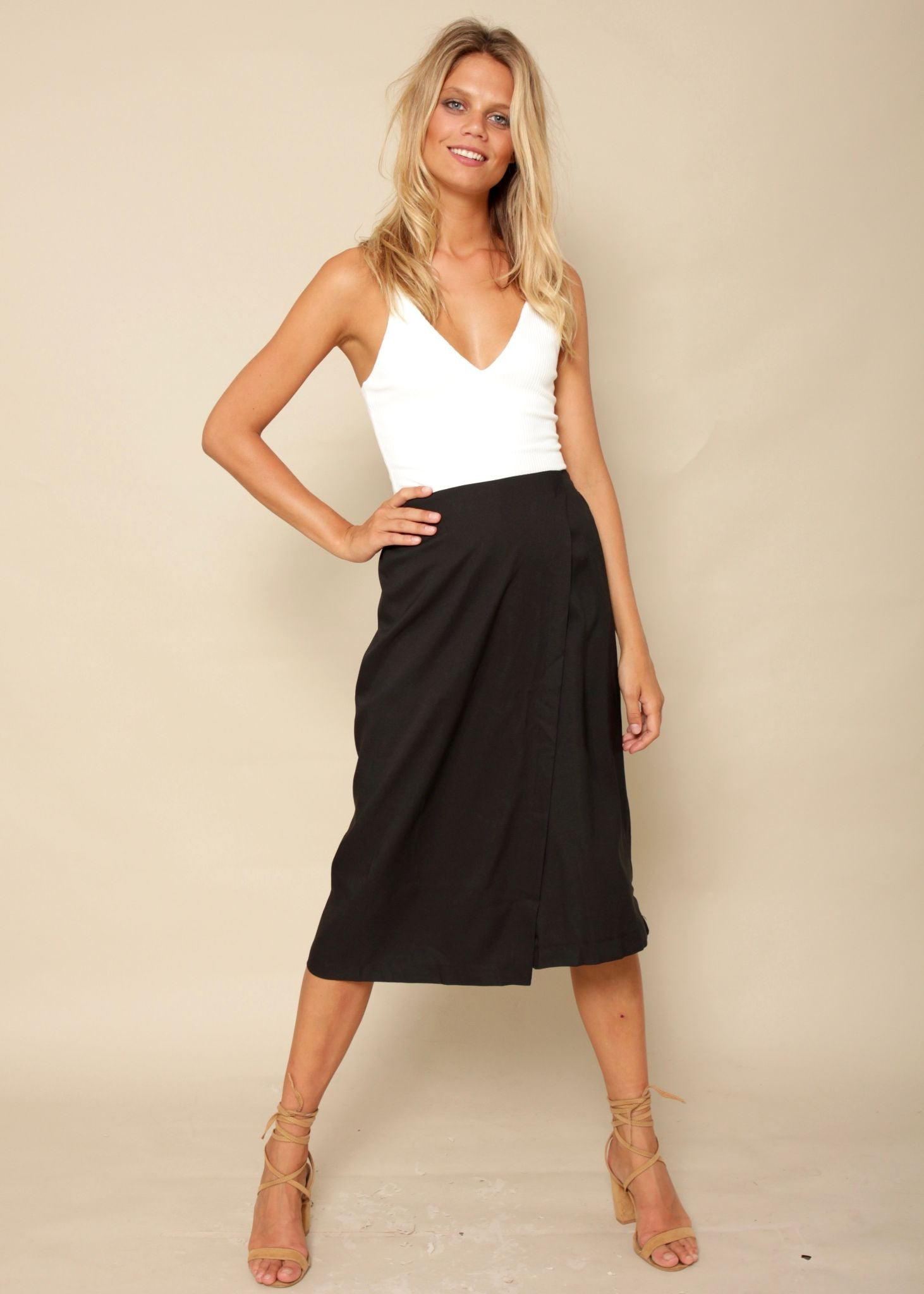 Two Of Us Culottes - Black