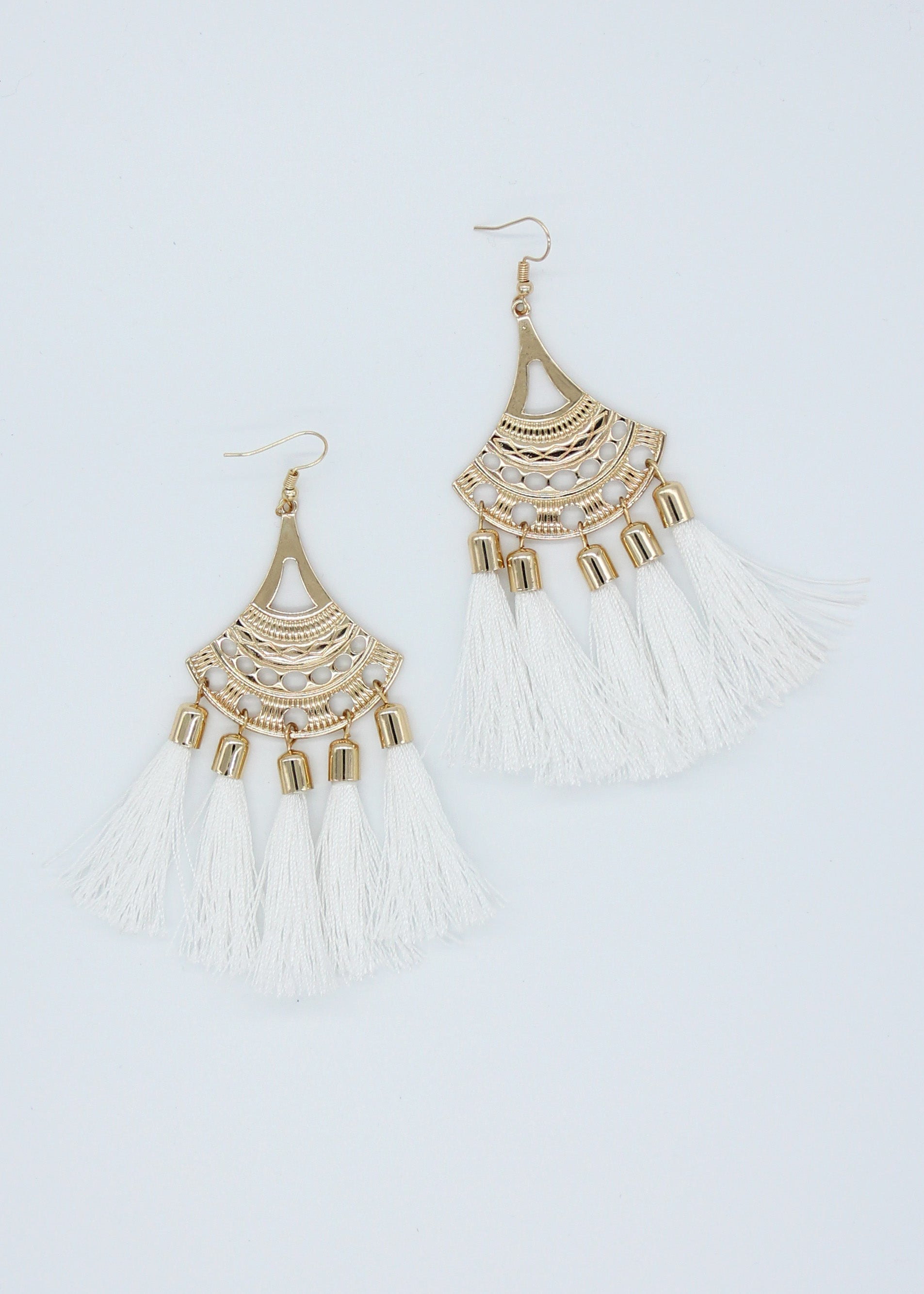 Domenica Earrings - White