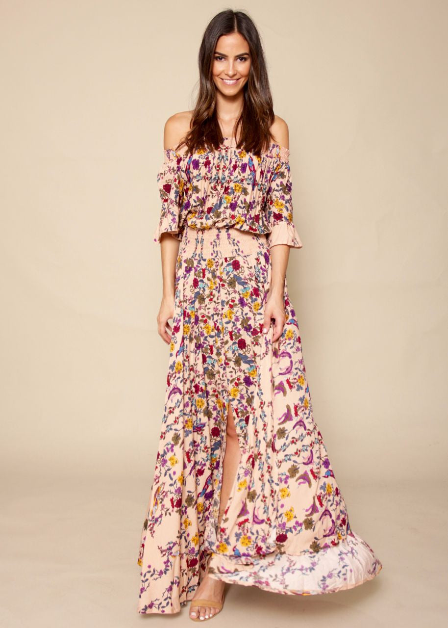 Boho Leah Maxi Dress - Birds Of Paradise
