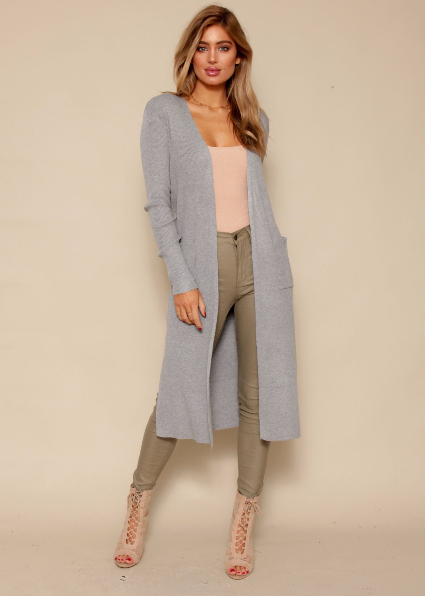 Hidden Hearts Cardigan - Grey