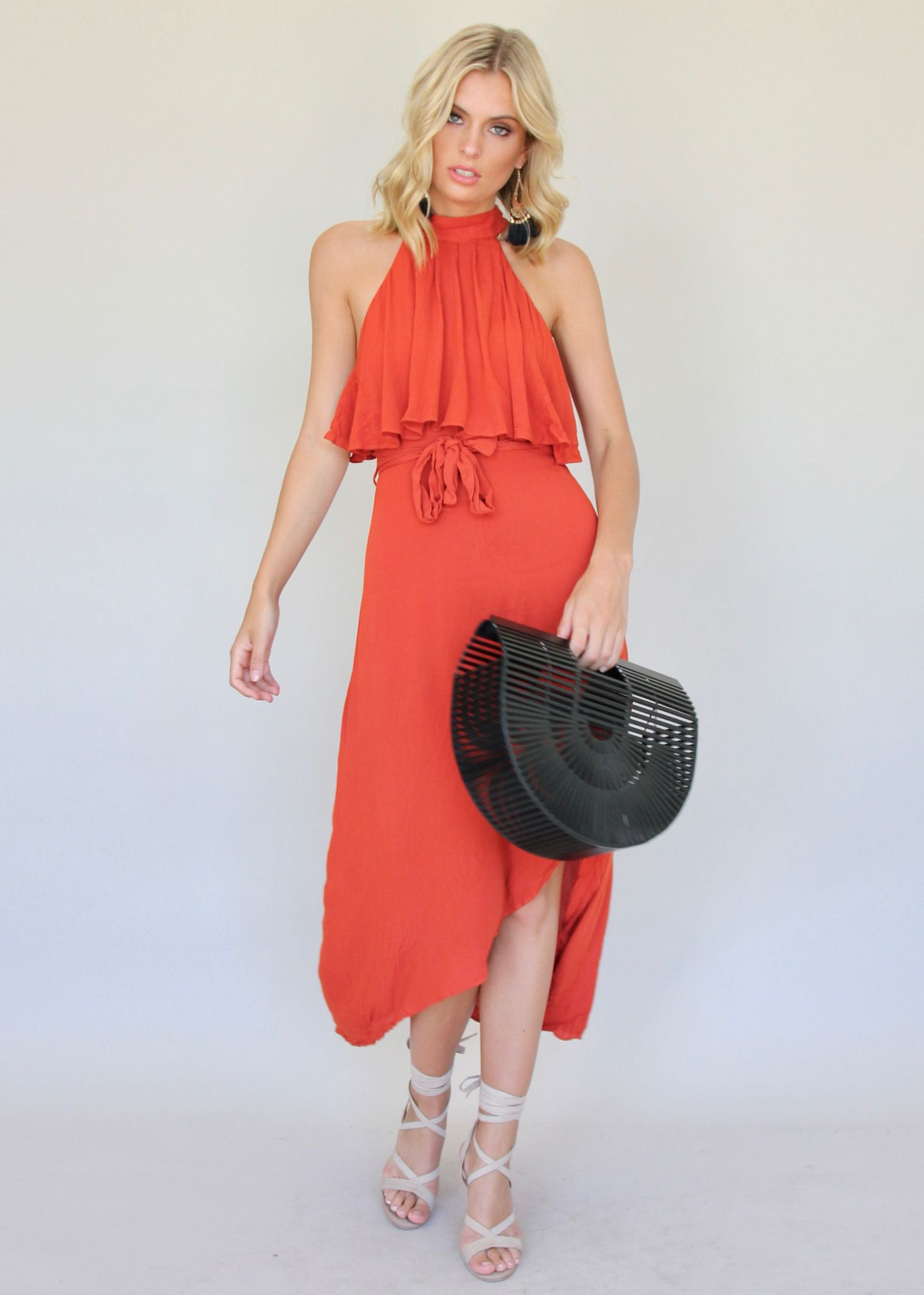 Spring Fling Maxi Dress - Burnt Orange