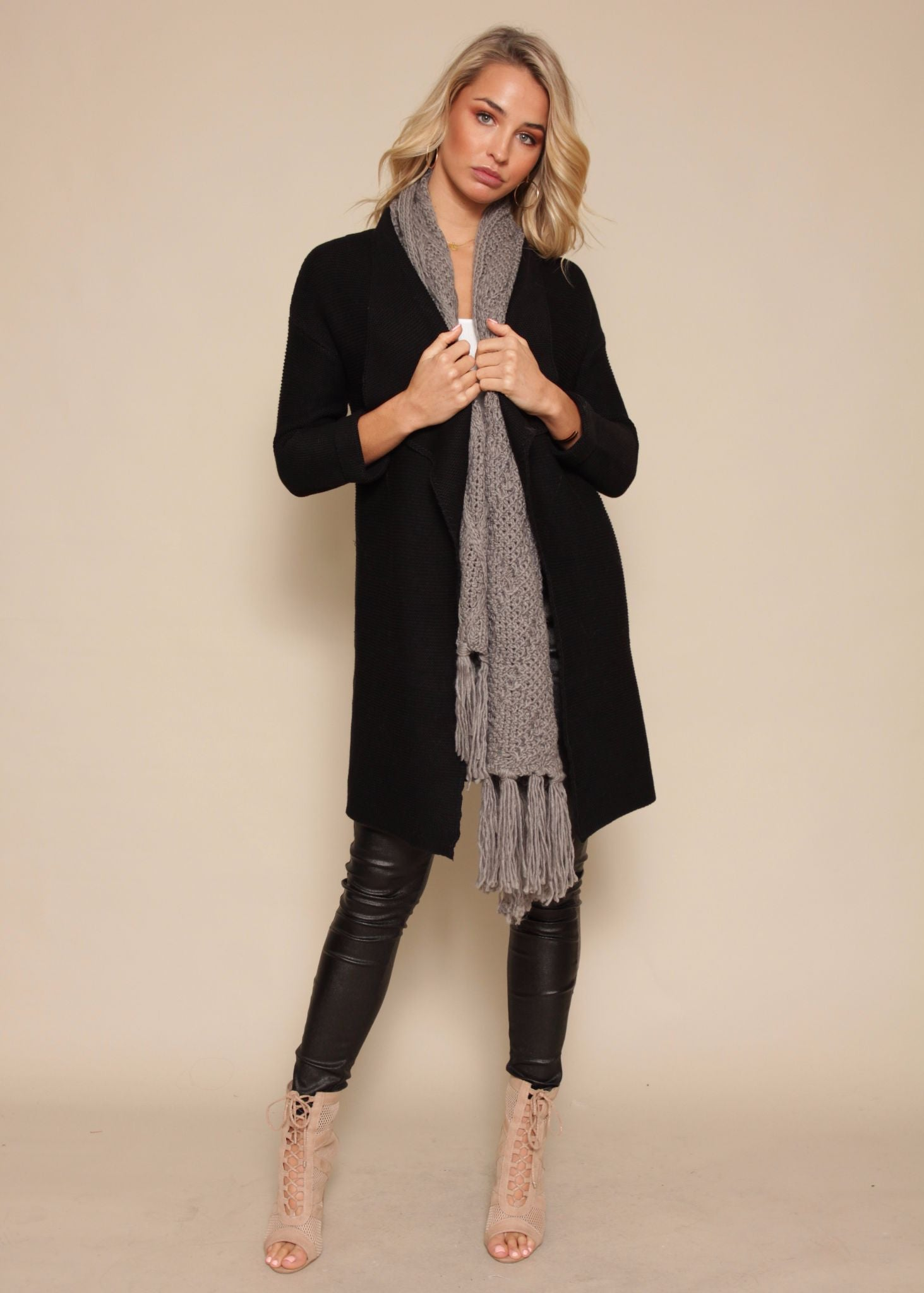 Lover Of Mine Knit Cardigan - Black