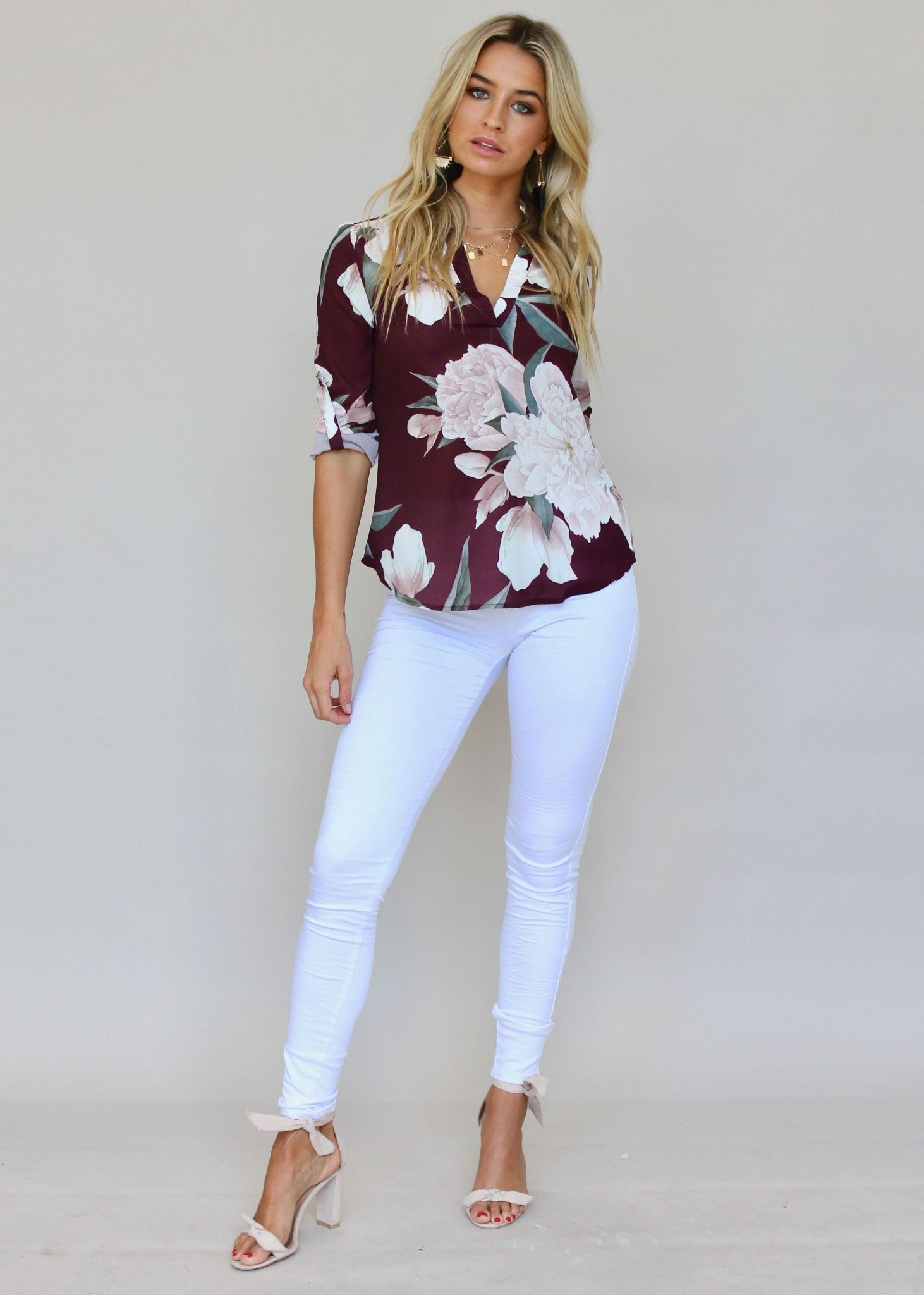 Aurella Blouse - Mulberry