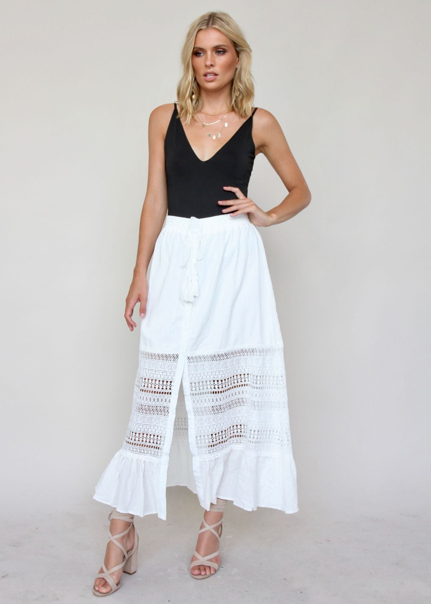 Spring To It Skirt - White