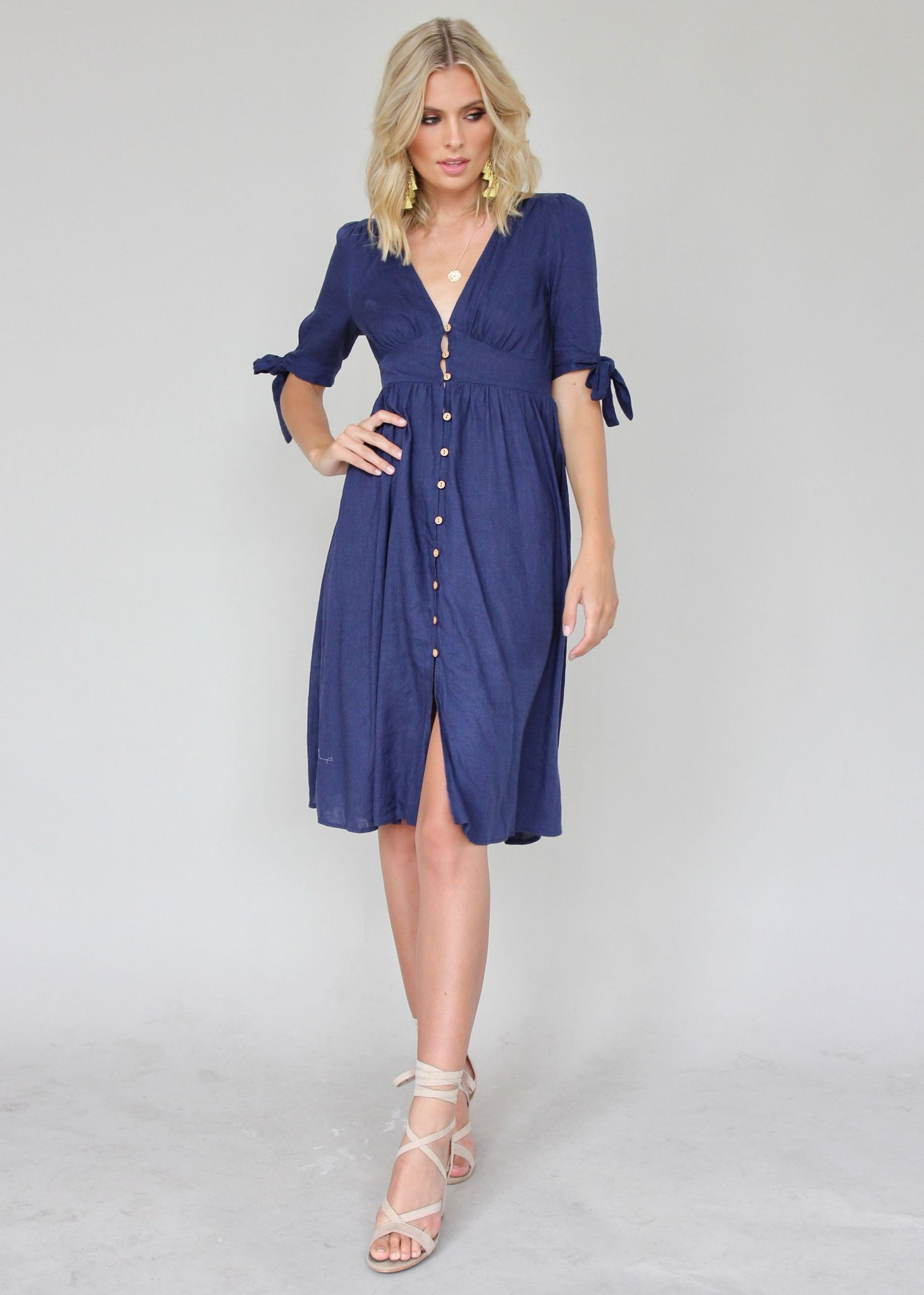 Future Forever Midi Dress - Navy