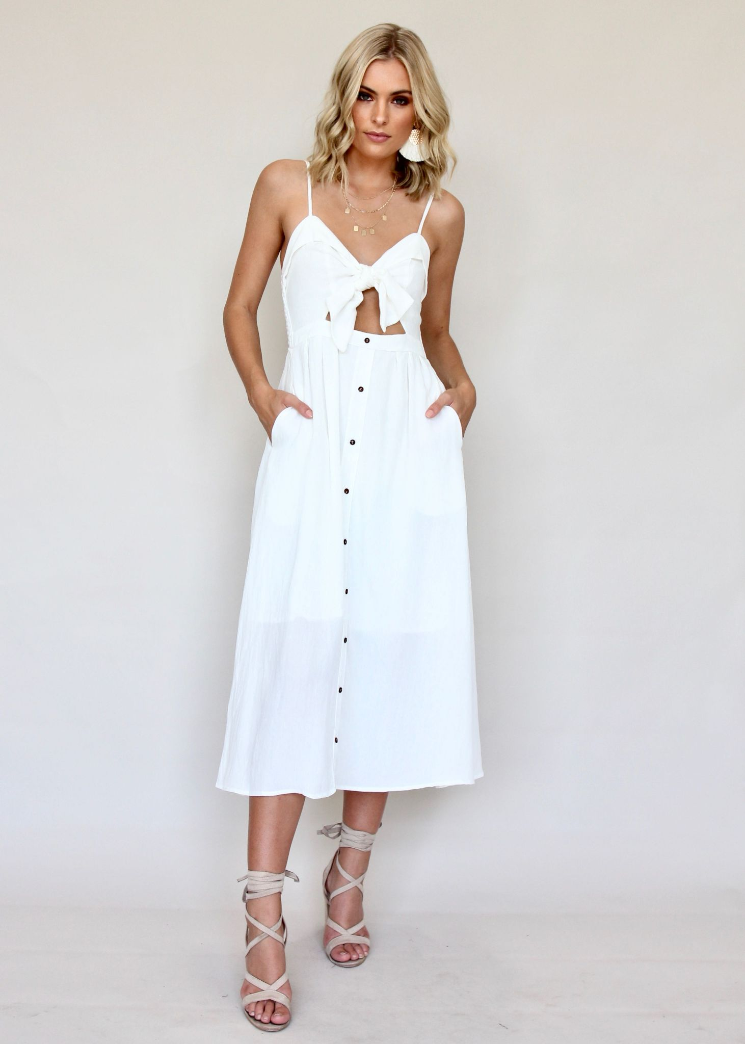 Spark The Night Dress - White