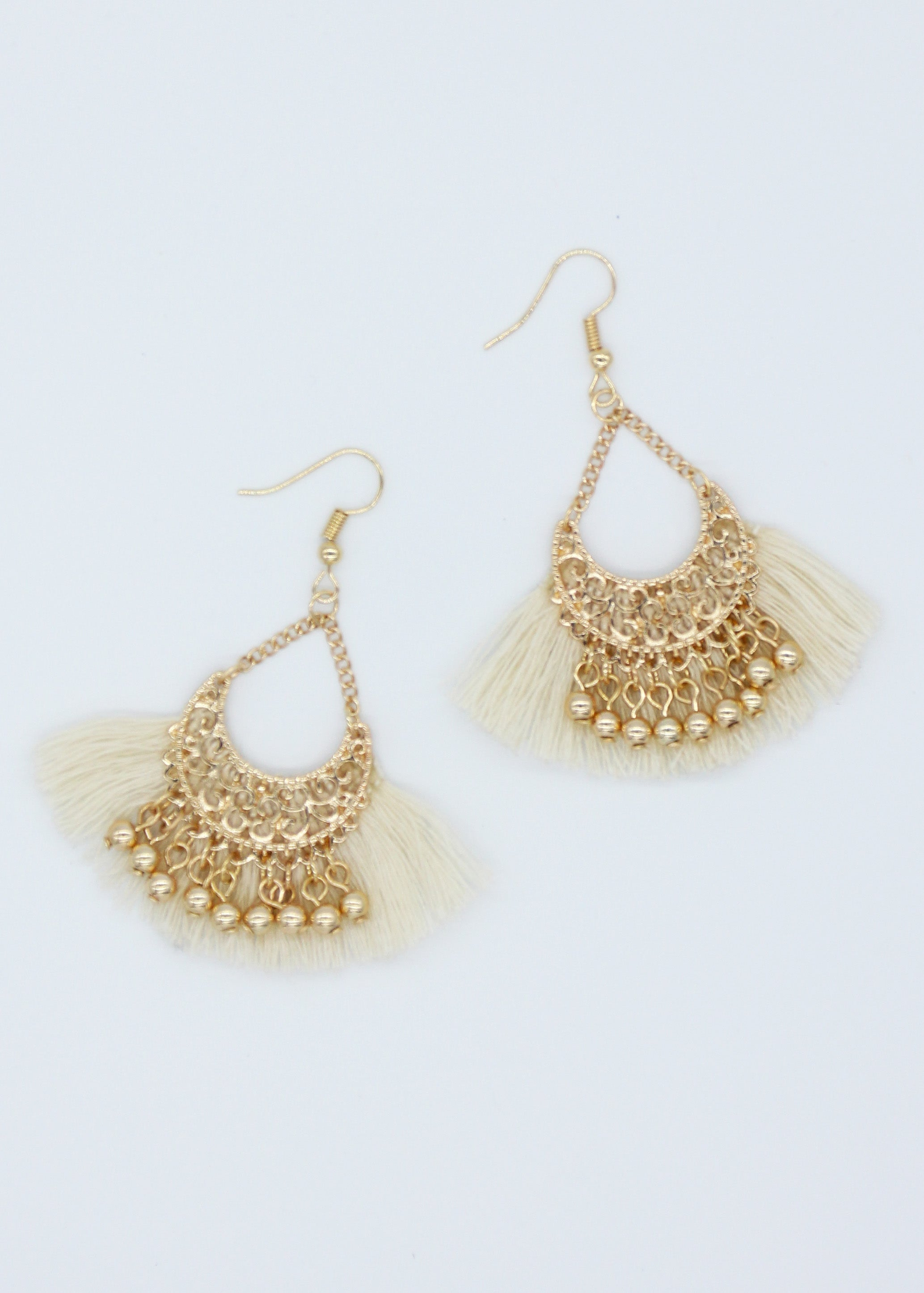 Indiana Earrings - Coconut