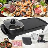 2 IN 1 ELECTRIC GRILL AND HOTPOT (NON-STICK AND SMOKELESS)