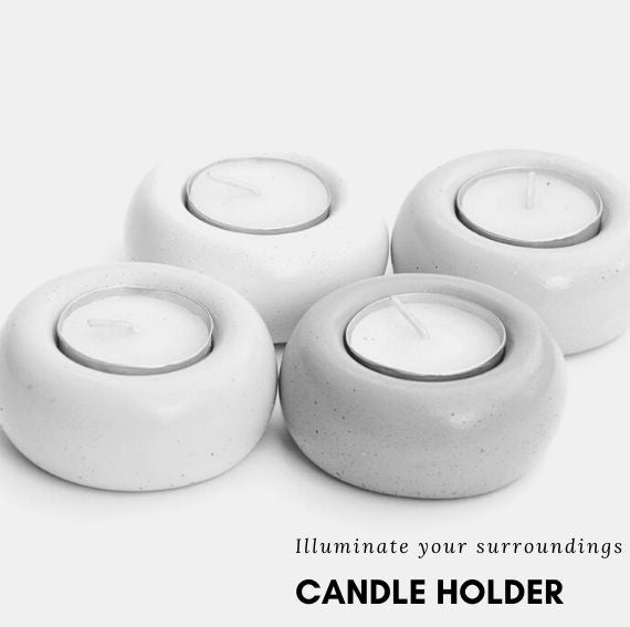 buy Concrete candle holder online,buy concrete t-light holder,cement t light holder