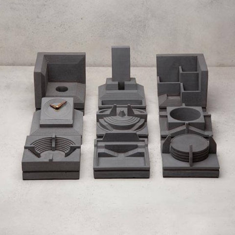 The Nava Concrete Desktop Organisers-Set of Nine-Eliteearth