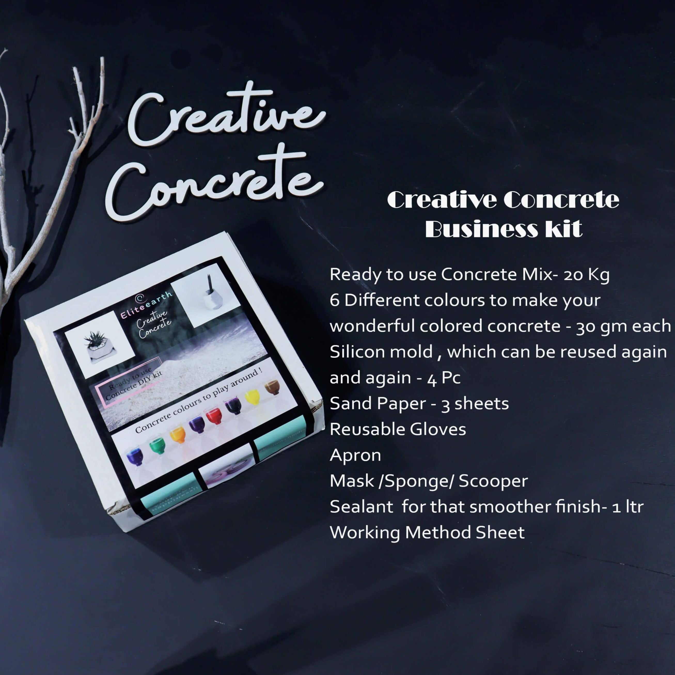 Eliteearth's  DIY Creative Concrete Business Kit-Eliteearth