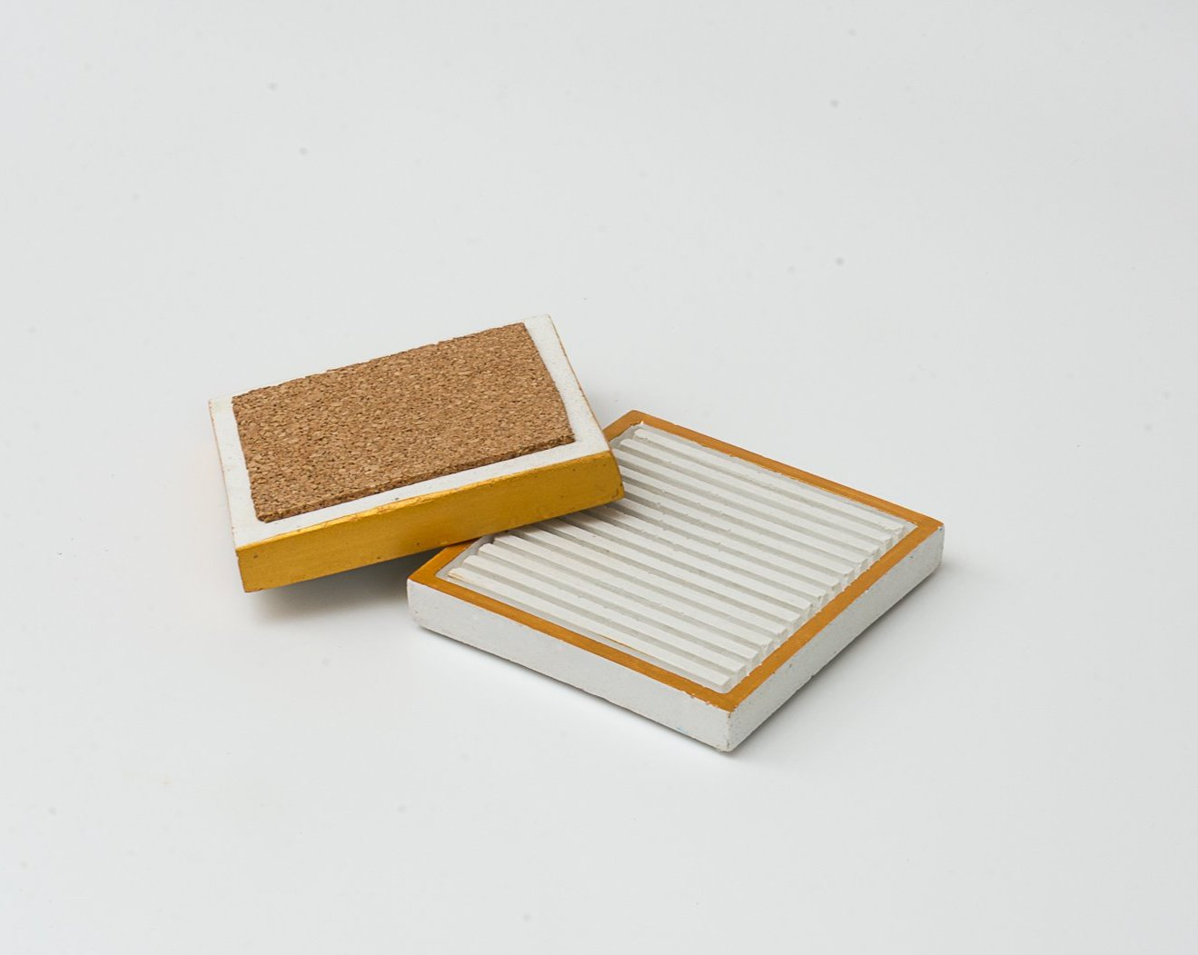Concrete Simply Stripy Coasters - Stripes Collection - Eliteearth