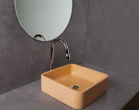 Concrete Ballad Wash Basin - Blush Pink-Eliteearth