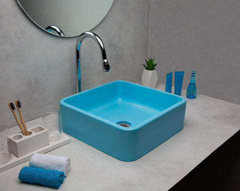 Concrete Ballad Wash Basin - Turq-Eliteearth