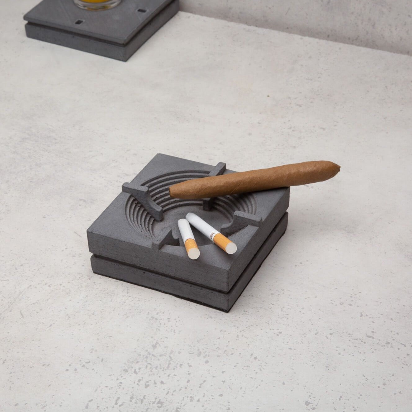 Bhasmana Concrete Ashtray - Nava Desktop Organiser