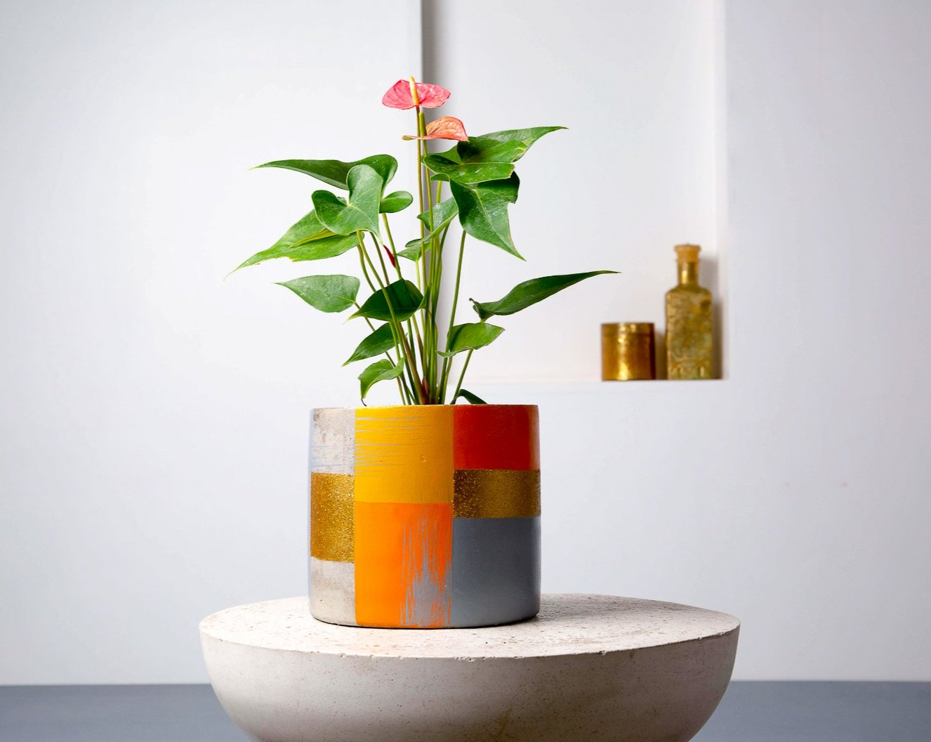 Concrete Classico Planter - Suryaasta Collection-Eliteearth